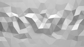 Abstract Polygonal Geometric background white color royalty free illustration