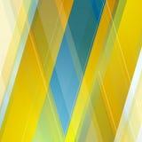 Abstract polygonal geometric blue orange Royalty Free Stock Photo