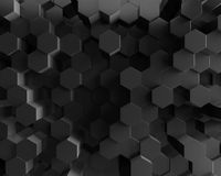 Abstract black polygonal geometric hexagon background Stock Photography