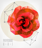 Abstract polygonal. Geometric illustration Stock Photography