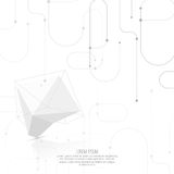 Abstract polygonal geometric shape Royalty Free Stock Photos