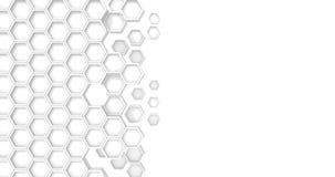 Hexagon looping white animation
