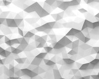 Abstract white polygonal geometric triangle background Stock Image
