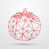Abstract polygonal Geometric triangle design. Colorfuul line vector illustration Stock Photo