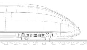 Abstract polygonal high-speed passenger train Royalty Free Stock Photos