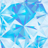 Abstract polygonal ice background. Stock Photography