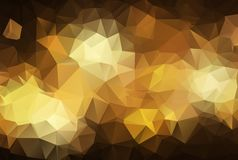 Abstract polygonal illustration, which consist of triangles. Geometric background in Origami style with gradient. Triangular desig. Abstract Dark gold polygonal vector illustration