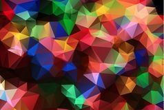 Abstract polygonal illustration, which consist of triangles. Geometric background in Origami style with gradient. Triangular desig. Abstract Colorful polygonal stock illustration