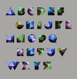 Abstract polygonal letter in Cosmic style Stock Photos