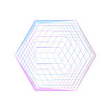 Abstract polygonal logo on white. Geometric design symbol, hexagonal geometry. Vector background made of. Hexagons vector illustration