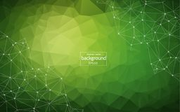 Abstract polygonal low poly dark background with connecting dots and lines. Connection structure. Vector science background. Polyg. Onal vector background stock illustration