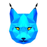 Abstract polygonal lynx portrait Royalty Free Stock Images