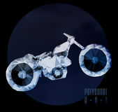 Abstract  polygonal motorbike Stock Images