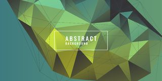 Abstract polygonal object in the background. Low poly design. Royalty Free Stock Photography