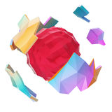 Abstract polygonal planet Royalty Free Stock Photography