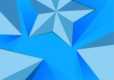 Abstract Polygonal pyramid and star background Stock Photos