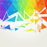 Abstract polygonal rainbow background2 Stock Photography