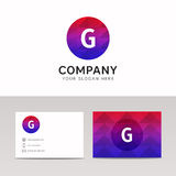 Abstract polygonal round circle G letter icon company logo sign Royalty Free Stock Photography