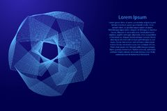 Abstract polygonal shape of the broken blue lines of  illustration. Background information blank, lorem ipsum. Abstract polygonal shape of the broken blue lines Stock Images