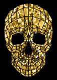 Abstract polygonal shine skull on a background. Royalty Free Stock Images