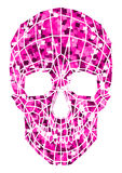 Abstract polygonal shine skull on a background. Stock Photo