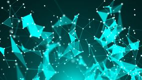 Abstract Polygonal Space Background with Connecting Dots and Lines Stock Photo