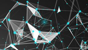 Abstract Polygonal Space Background with Connecting Dots and Lines Stock Photos