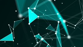 Abstract Polygonal Space Background with Connecting Dots and Lines Royalty Free Stock Images