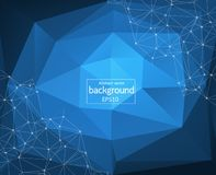 Abstract Polygonal Space Background with Connecting Dots and Lines. Low Poly Vector Illustration vector illustration