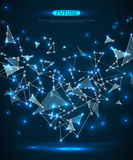 Abstract polygonal space blue background Royalty Free Stock Photography