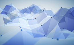 Abstract polygonal space Stock Images