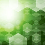 Abstract Polygonal space Green Hexagonal background with connecting Dots and halftone lines. Vector illustration Stock Photo