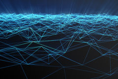 Abstract polygonal space low poly with connecting dots and lines. Futuristic background. Connection structure. 3d Royalty Free Stock Image