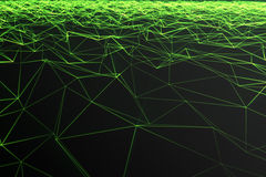 Abstract polygonal space low poly with connecting dots and lines. Futuristic background. Connection structure. 3d. Abstract polygonal space low poly with Royalty Free Stock Photos