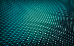 Abstract polygonal space low poly. Dark background with connecting dots and lines. Connection structure stock illustration