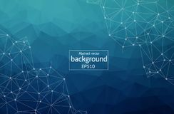 Abstract polygonal space low poly dark background with connecting dots and lines. Connection structure. Vector science background. Polygonal vector background royalty free illustration