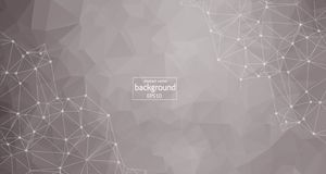 Abstract polygonal space low poly light grey background with connecting dots and lines. Connection structure. Vector science backg. Round. Polygonal vector stock illustration