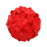 Abstract polygonal sphere. 3d illustration isolated on white background Royalty Free Stock Photography