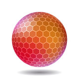 Abstract polygonal sphere Stock Image