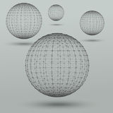 Abstract polygonal spheres royalty free illustration