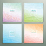 Abstract polygonal with square text background set Stock Photos