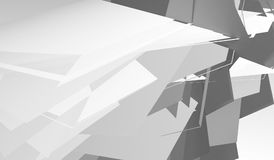 Abstract polygonal structures. 3d render. Abstract digital graphic background pattern, white minimal polygonal structures. 3d render vector illustration