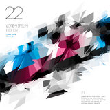 Abstract polygonal template design Royalty Free Stock Images