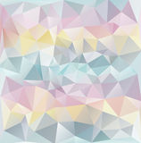 Abstract polygonal texture-pastel colours Royalty Free Stock Photography