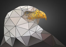 Abstract polygonal triangle bald eagle. Geometric low poly illustration. Polygonal poster Stock Photo