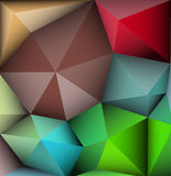 Abstract polygonal, triangle pattern. Abstract 3D Geometric, polygonal, triangle multicolored pattern background Royalty Free Stock Image