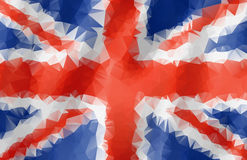 Abstract polygonal triangle UK flag Stock Photo