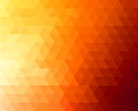Abstract polygonal triangles poster. Abstract geometric background with orange and yellow triangles. Vector illustration. Summer sunny design Royalty Free Stock Images