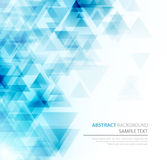 Abstract polygonal triangles poster Royalty Free Stock Photos