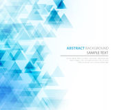 Abstract polygonal triangles poster Stock Images